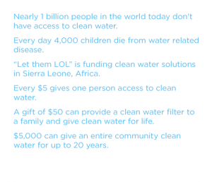 Nearly 1 billion people in the world today don't have access to clean water